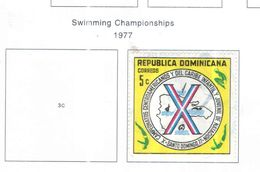 Rep.Dominicana PO 1977 Camp.Nuoto  Scott.781 Used See Scans On Scott.Page - Dominican Republic