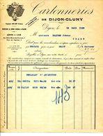21.COTE D'OR.DIJON.CARTONNERIES DE DIJON-CLUNY. - Imprimerie & Papeterie