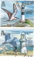SALOMON ISLANDS 2012 - 2 STAMPS LIGHHOUSES PHARES - STERN ANAETHETUS - CHROICOCEPHALUS NOVAE./6351 - Islas Salomón (1978-...)