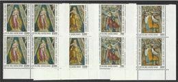 1995 Vaticano Vatican CELEBRAZIONI LAURETANE  LORETO 4 Serie Di 4v. MNH** Quartina Bl.4 - Cristianesimo