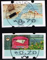 Bund 2017 ATM, Michel# 8 + 9 O Portostufe 0,70 Euro - Distributori