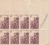 FRANCE  - 8 TIMBRES ROCAMADOUR  1946 MONUMENTS ET SITES  - Yv 763 - MNH** 2 SCANS  / TBS - Sammlungen (ohne Album)