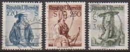 Österreich 1952 Nr.978 - 980  O Gest Trachten ( 1665 ) Günstige Versandkosten - 1945-.... 2. Republik