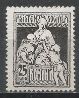 Romania 1928. Scott #RA15 (M) Charity * - Paquetes Postales