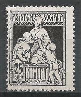 Romania 1928. Scott #RA15 (M) Charity * - Colis Postaux