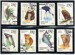 RUSSIE RUSSIA 1993, ELEPHANT PHOQUE KOALA PANDA MARSOUIN GRUE BALEINE..., 8 Valeurs, Oblitérés / Used .  R263 - Gebruikt