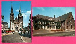 2 Cp - Eupen - Eglise St Nicolas - Hôtel De Ville - Rathaus - St Niklaas Kerk - Autobus - COX VW - Animée - NELS - IRIS - Eupen