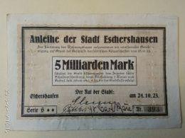 Eschershausen 5 Miliardi Mark 1923 - [11] Emissioni Locali