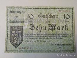 Elberfeld 10 Mark 1918 - [11] Emissioni Locali
