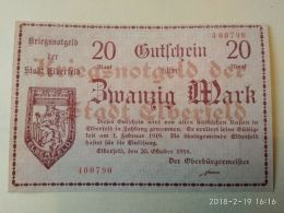 Elberfeld 20 Mark 1918 - [11] Emissioni Locali