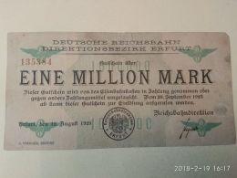 Erfurt 1 Milioni Mark 1923 - [11] Emissioni Locali