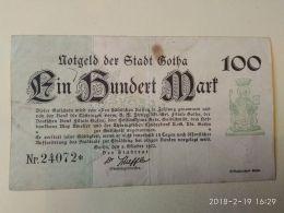 Gotha 100 Mark 1922 - [11] Emissioni Locali