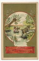 La Fontaine  L' Ane Chargé D' Eponges Et L' Ane Chargé De Sel. Donkey Carrying Sponges And Salt - Donkeys