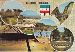 34 CLERMONT L' HERAULT / MULTIVUES  / BLASON - Clermont L'Hérault