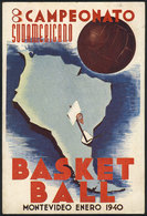 2 TOPIC BASKETBALL: Postcard Of The South American Basketball Championship In Montevi - Basketball