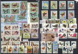 9 TOPIC BUTTERFLIES: Beautiful And Very Thematic Group Of Several Hundreds Sets And S - Butterflies
