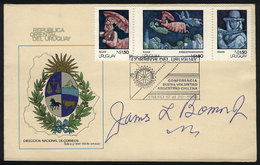 """11 TOPIC ROTARY: """"Special Envelope Of Uruguay With Postmark Of """"Conferencia De Buena - Rotary, Lions Club"""