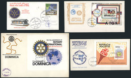 13 TOPIC ROTARY: 21 First Day Covers With Complete Sets Or Souvenir Sheets, Some Are V - Rotary, Lions Club