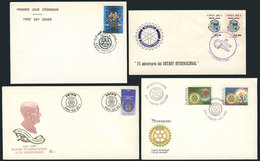 25 TOPIC ROTARY: 10 Covers Related To Topic ROTARY, Very Fine Quality, Little Duplicat - Rotary, Lions Club