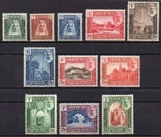 29 ADEN - KATHIRI: Sc.1/11, 1942 Cmpl. Set Of 11 Mint Values, VF Quality, Catalog Value - Aden (1854-1963)