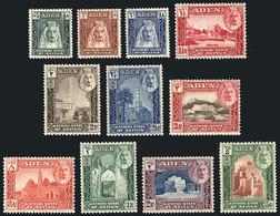 31 ADEN - SEIYUN: Yvert 1/11, 1942 Cmpl. Set Of 11 Mint Values, VF Quality! - Aden (1854-1963)