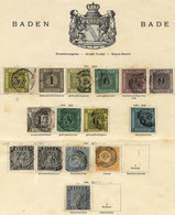 39 GERMANY: Old Collection In 2 Album Pages, Including Several Rare Or Scarce Stamps, G - Baden