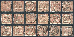 40 GERMANY: Sc.23 X 17 Used Examples, Varied Cancels, Very Fine Quality, Catalog Value - Baden