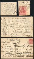 42 GERMANY: 2 PCs Sent From German Ships AT SEA To Argentina In 1909, Both Franked With - Germany