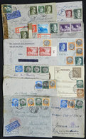 48 GERMANY: 10 Covers Or Cards Sent To Argentina Between 1939 And 1943, Almost All CENS - Germany