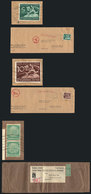 49 GERMANY: 2 Commercial Wrappers + A Folded Cover Sent To Argentina (circa 1940), With - Germany