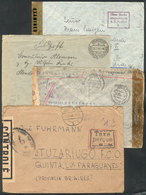 50 GERMANY: 4 Covers Sent To Argentina Between 1941 And 1946, None Bearing Postage (wit - Germany