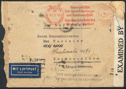"""52 GERMANY: """"Airmail Cover Sent From München To Argentina On 10/FE/1943, With German Ce - Germany"""
