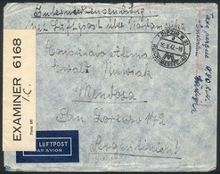 60 GERMANY: Airmail Cover With Partial Free Frank Of POWs (it Only Paid The Airmail Rat - Germany