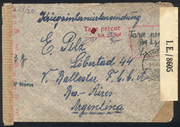 61 GERMANY: Airmail Cover With Partial Free Frank Of POWs (it Only Paid The Airmail Rat - Germany