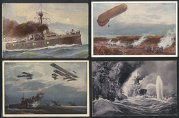 66 GERMANY: 12 Beautiful Postcards (+ 1 Of Italy), Almost All With Motifs Related To Wa - Leipzig