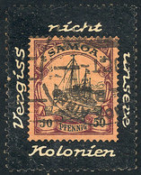 69 GERMANY: Interesting Cinderella Commemorating The Lost Colonies, Used, Very Nice! - Germany