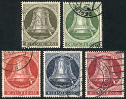 76 GERMANY - BERLIN: Yvert 68/72, 1952 Liberty Bell, Cmpl. Set Of 5 Used Values, Excell - Unclassified
