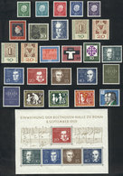 82 WEST GERMANY: Yvert 173/198 + S.sheet 1, Year 1959 Complete, Unmounted, Excellent Qu - [7] Federal Republic