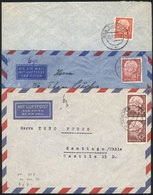 84 WEST GERMANY: 3 Covers Sent To Chile Between 1956 And 1958, Nice Postages, Fine To V - [7] Federal Republic