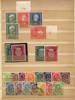 89 WEST GERMANY: Interesting Stock Of Stamps In Stockbook, Including Many Good Values A - [7] Federal Republic