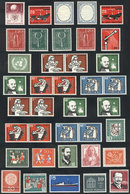 90 WEST GERMANY: Lot Of Complete Unmounted Sets, All Very Fresh And Of Excellent Qualit - [7] Federal Republic