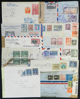 94 CENTRAL AMERICA: 16 Covers Or Cards Sent To Argentina Between 1939 And 1945, Almost - Stamps