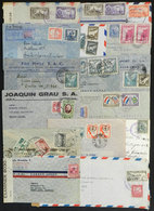 95 LATIN AMERICA: 16 Covers Or Cards Sent To Argentina Between 1940 And 1945, Several C - Stamps