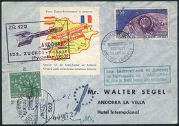 96 ANDORRA: 29/SE/1962 ZUCKER ROCKET Cover With Cinderella And Special Handstamps, And - Stamps