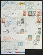 104 ARGENTINE ANTARCTICA: ANTARCTIC FLIGHTS: 9 Covers Flown Between 1968 And 1973, All W - Argentina