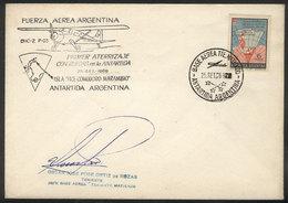 105 ARGENTINE ANTARCTICA: 25/SE/1969 First Wheeled Landing In Antarctica (on A Natural G - Argentina