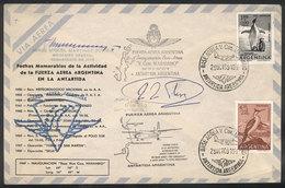 106 ARGENTINE ANTARCTICA: 29/OC/1969 Inauguration Of The Antarctic Air Base Vice Comodor - Unclassified