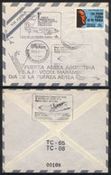 110 ARGENTINE ANTARCTICA: 10/AU/1973 First Presidential Flight To Antarctica (to Marambi - Argentina