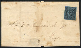 118 ARGENTINA: GJ.1, Un Real M.C. Franking A Folded Cover Sent To Goya, With Pen Cancell - Corrientes (1856-1880)