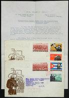 556 CHINA: Sc.655/660, 1963 Cuban Revolution, Cmpl. Set Of 6 Values On 2 FDC Covers (+ O - China